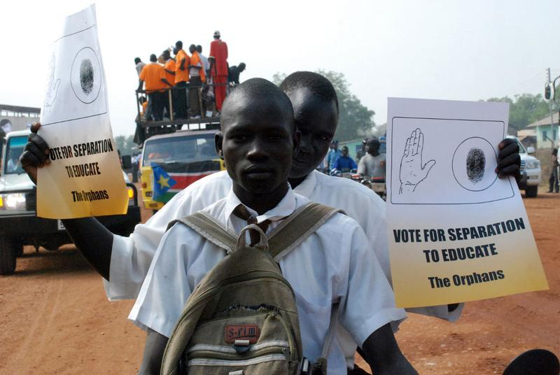 Southern Sudanese rally on the streets of the southern capital, Juba, on December 9, 2010, in advance of a landmark independence referendum.