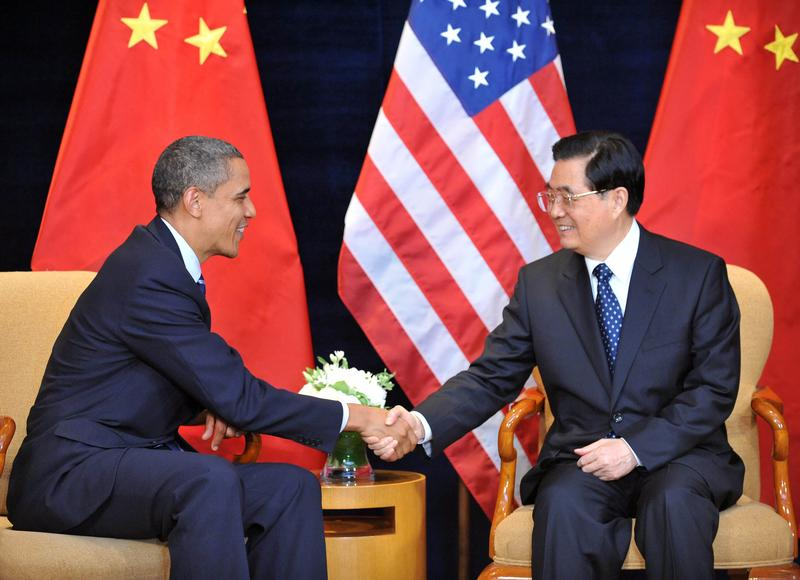 President Obama meets with Chinese President Hu Jintao for a bilateral meeting before the G20 Summit in Seoul, South Korea, 2010.