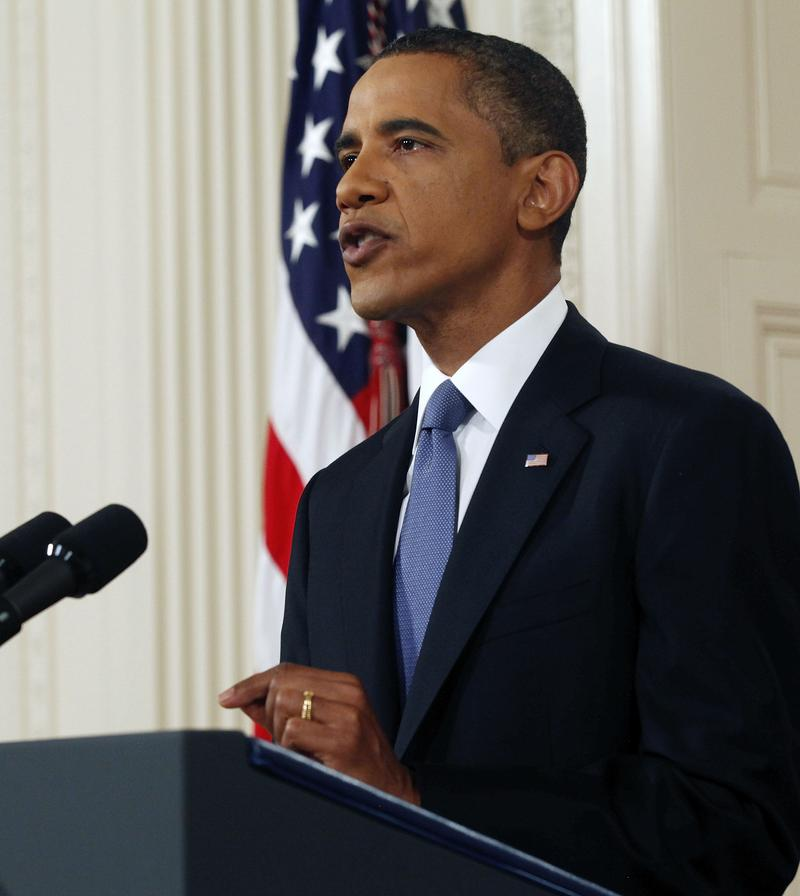 President Obama, at the White House, announces initial phase of Afghanistan withdrawal on June 22, 2011.