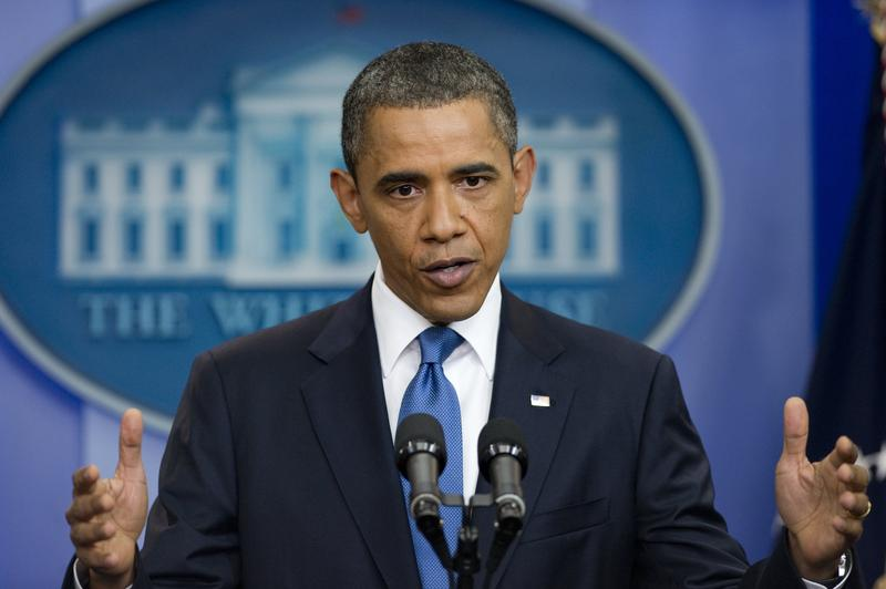 US President Barack Obama speaks during a news conference in the Brady Press Briefing Room at the White Houes in Washington, DC, July 11, 2011.