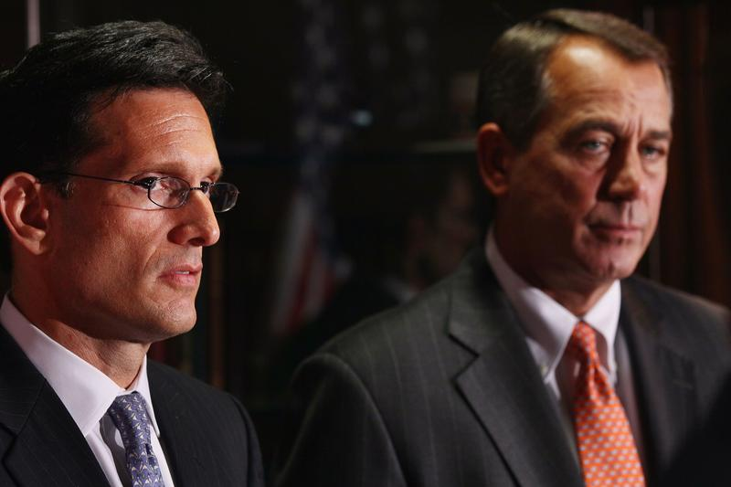 House Majority Leader Eric Cantor and Speaker of the House John Boehner.