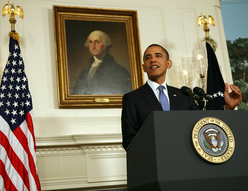 President Barack Obama makes a statement about progress with congressional leadership regarding the ongoing debt ceiling talks on July 29, 2011 at the White House.