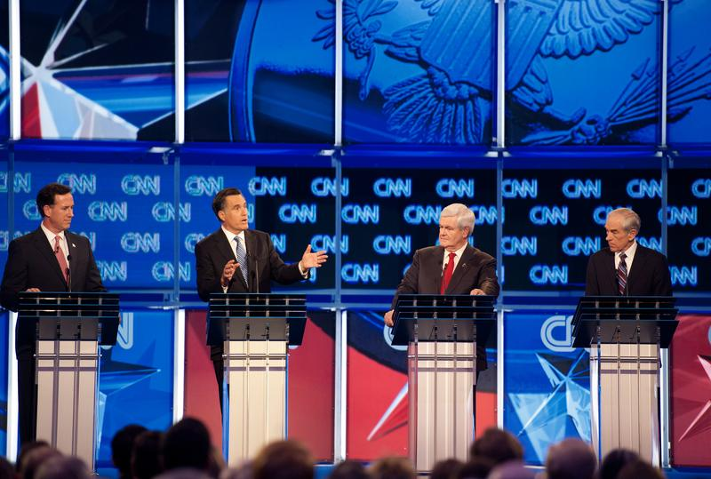 Republican presidential hopefuls participate in the CNN Debate in Charleston, S.C.