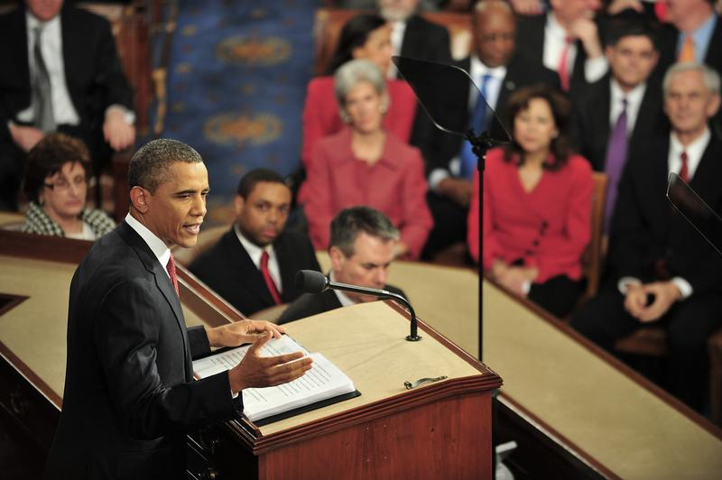 US President Barack Obama delivers his annual State of the Union Address.