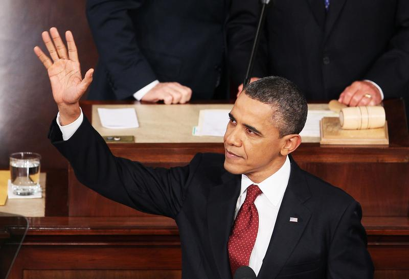 U.S. President Barack Obama arrives to deliver his State of the Union speech on January 24, 2012 in Washington, DC.