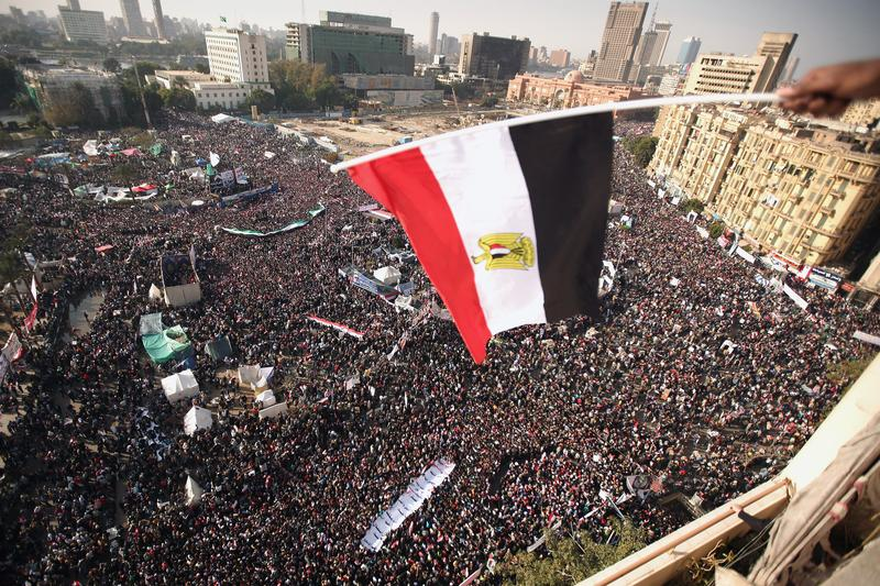 Tahrir Square on the one year anniversary of the revolution.