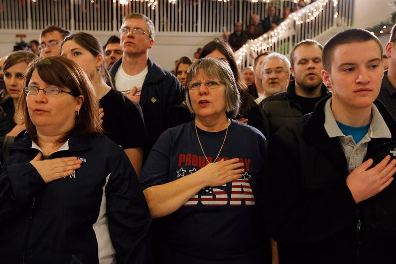 Voters at a Rick Santorum campaign stop in Davison, Michigan, on February 26.