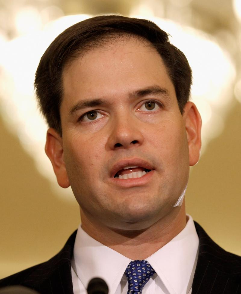Sen. Marco Rubio (R-FL) speaking at a press conference in Washington in May of 2012.