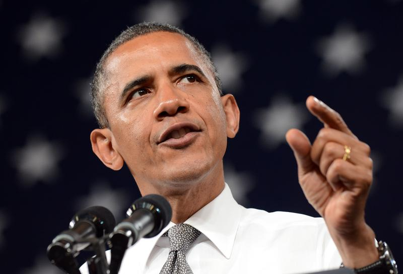 President Barack Obama speaks at the University of Nevada Las Vegas on June 7.