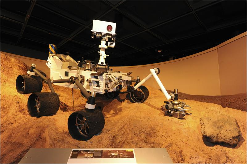 Curiosity rover. The rover is currently heading to Mars.
