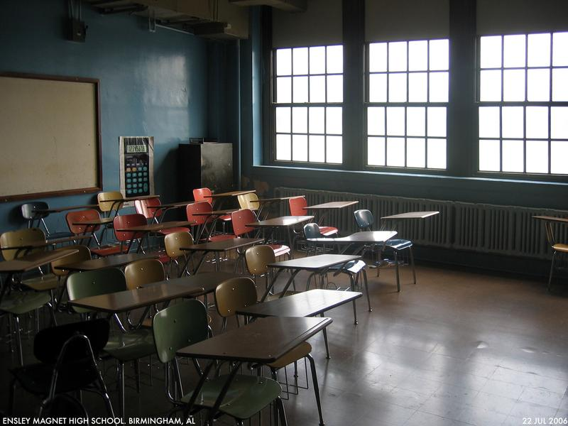 A high school classroom in Birmingham, Alabama.