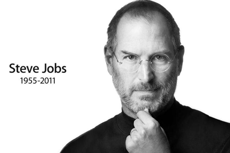 A screenshot from Apple's homepage after the announcement of Steve Jobs' death.