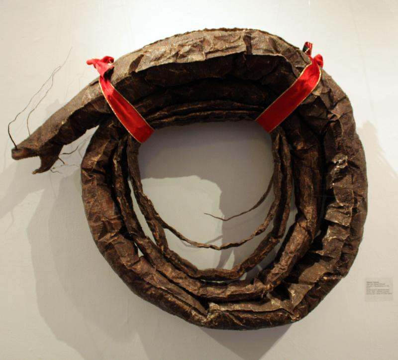 "Takeshi Yamada's ""Giant Sea Serpent Wreath"" is a crowd favorite at ""Wreath Interpretations."""
