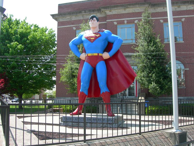 Statue of Superman, located behind the Massac County Court House in Metropolis, Illinois