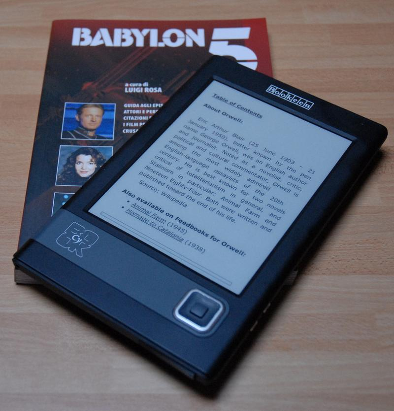 French-made e-book reader Cybook