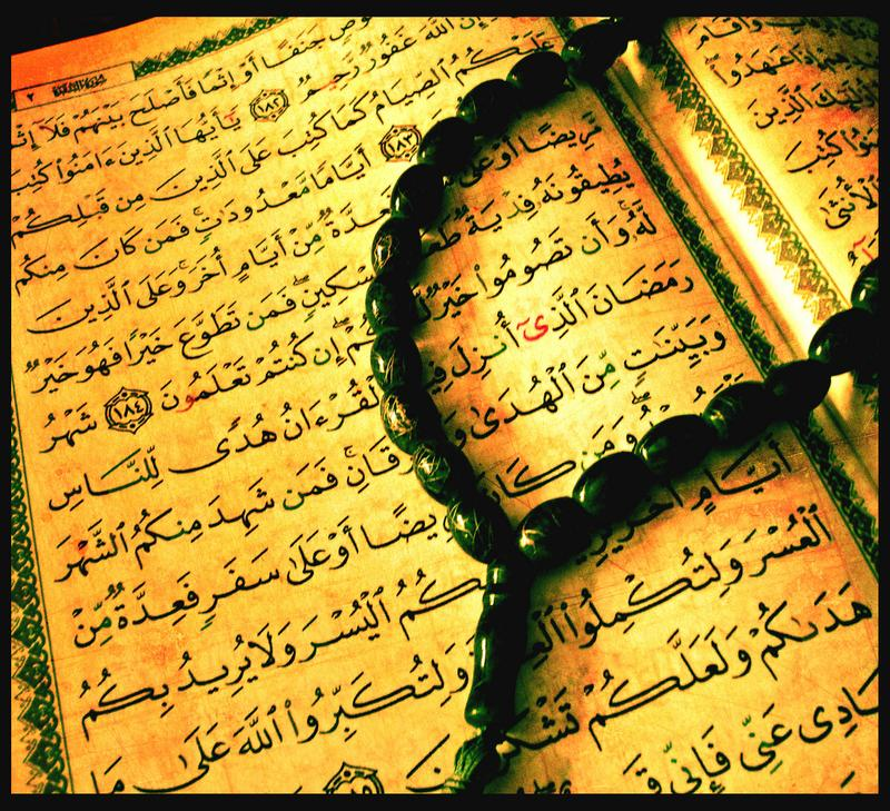 Koran and Muslim rosary