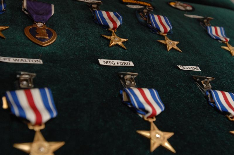 Nineteen 3rd Special Forces Group soldiers receive the Silver Star Medal during a Valor Awards Ceremony in the JFK Auditorium at Fort Bragg, N.C., Dec. 12, 2008.