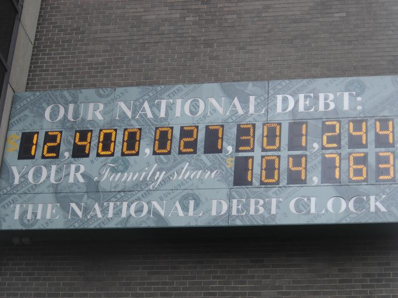 The National Debt Clock, around April 15th, 2010