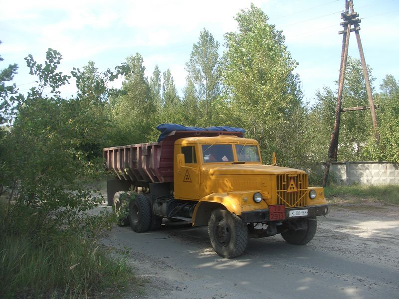 Truck for transporting nuclear material, photographed in the Chernobyl exclusion zone