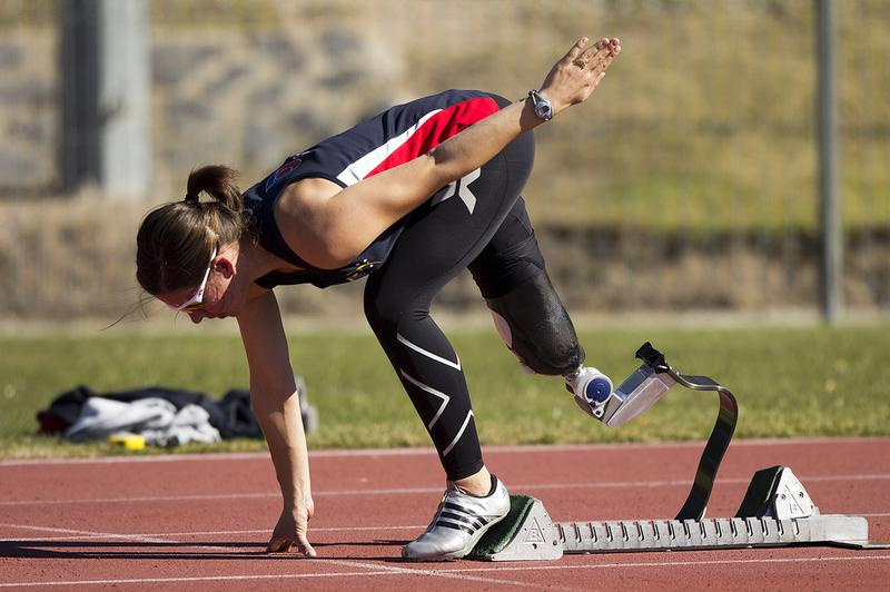 Paralympic athlete Michelle Errichiello at the AIS Track and Field