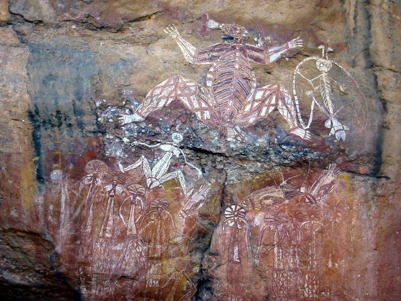 Aboriginal Rock Art, Anbangbang Rock Shelter, Kakadu National Park, Australia