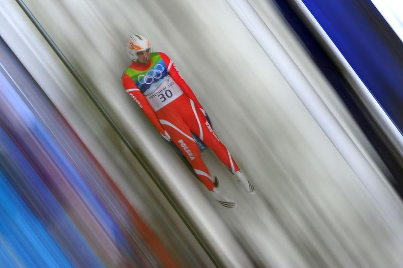 Maciej Kurowski of Poland competes during the final run of the men's luge singles final on day 3 of the 2010 Winter Olympics at Whistler Sliding Centre on February 14, 2010 in Whistler, Canada.