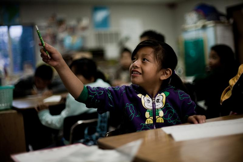 Andrea is a second grade student at Esperanza Elementary School in the MacArthur Park neighborhood of Los Angeles.