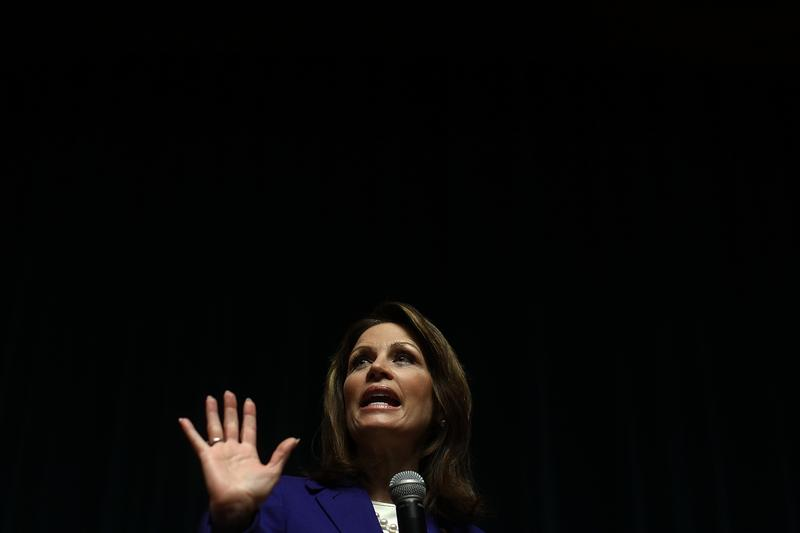 Republican presidential candidate U.S. Rep. Michele Bachmann (R-MN) speaks to a Town Hall meeting held at the Principal Financial Group December 29, 2011 in Des Moines, Iowa.