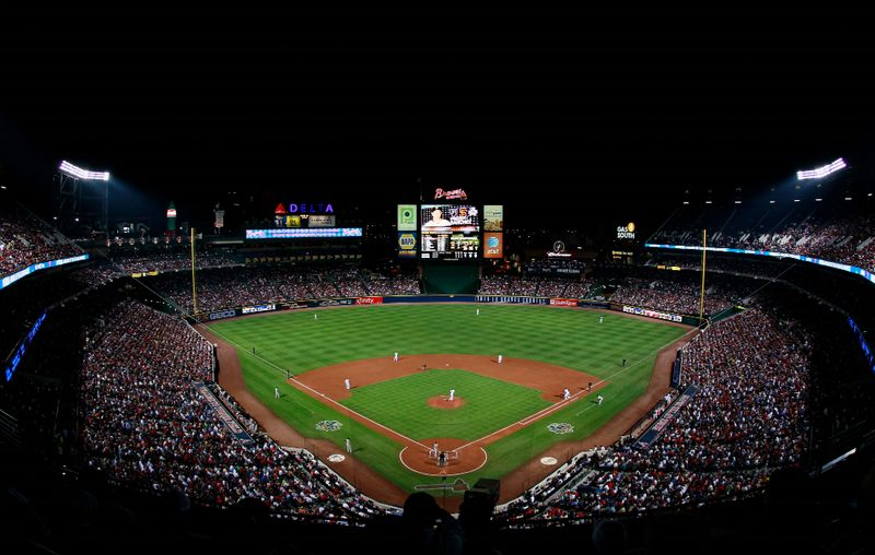 A general view of Turner Field during Game Four of the NLDS of the 2010 MLB Playoffs between the Atlanta Braves and San Francisco Giants at Turner Field on October 11, 2010.