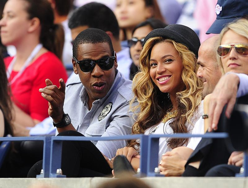 U.S. singers Jay-Z and Beyonce at the U.S. Open in September