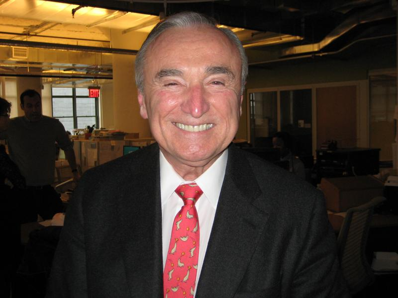 Former New York City Police Commissioner William Bratton in the WNYC studios