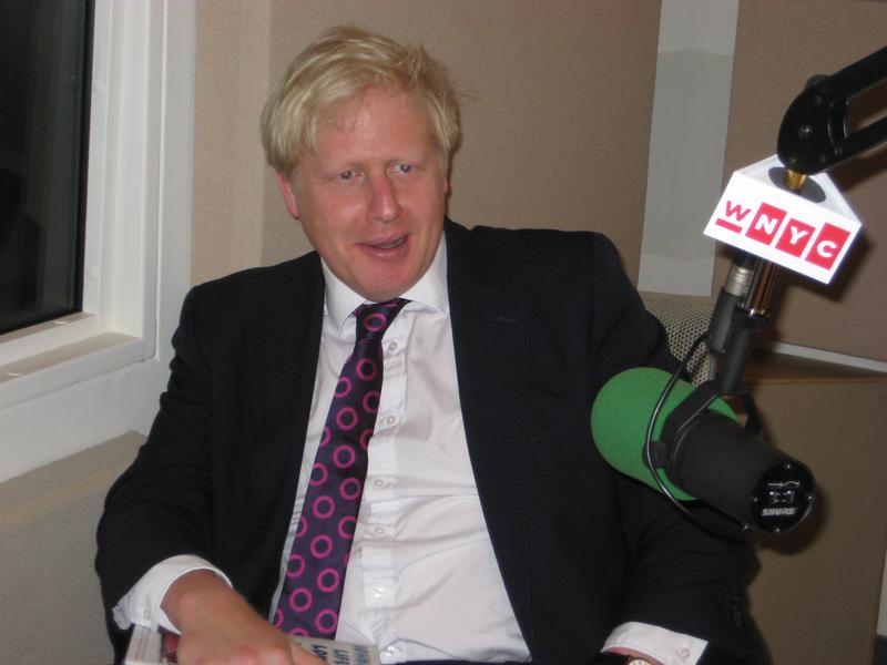 London Mayor Boris Johnson in the WNYC studios
