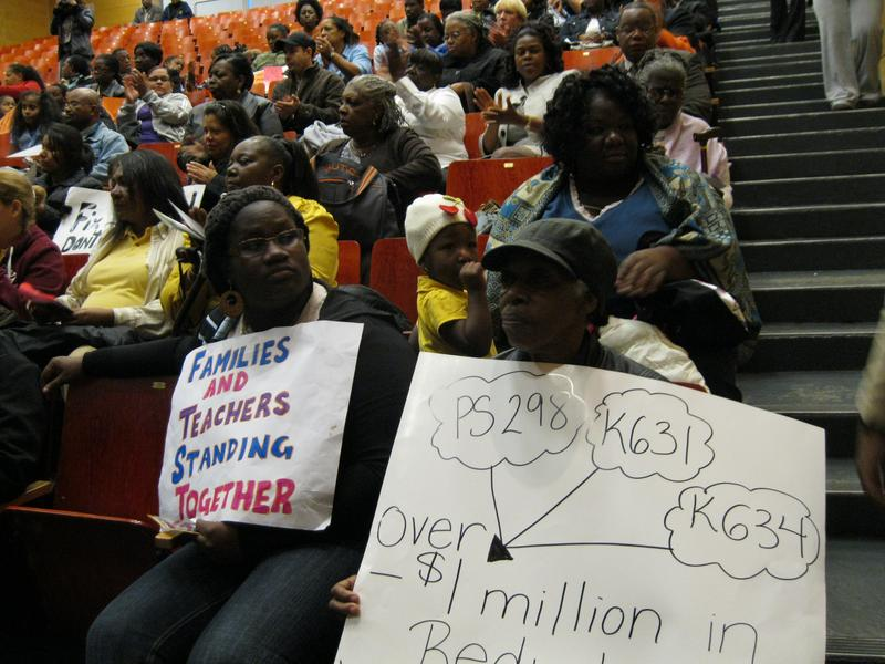 Parents and teachers at the chancellor's town meeting in Brownsville urged him not to close three struggling schools