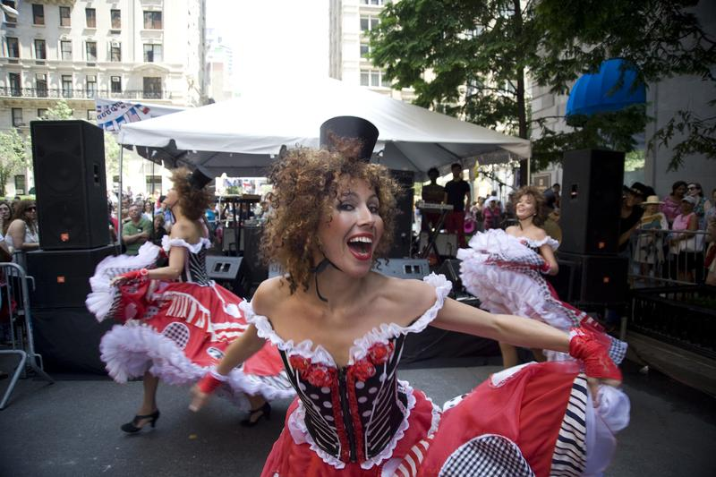 Can-can Dancers at Bastille Day on 60th Street