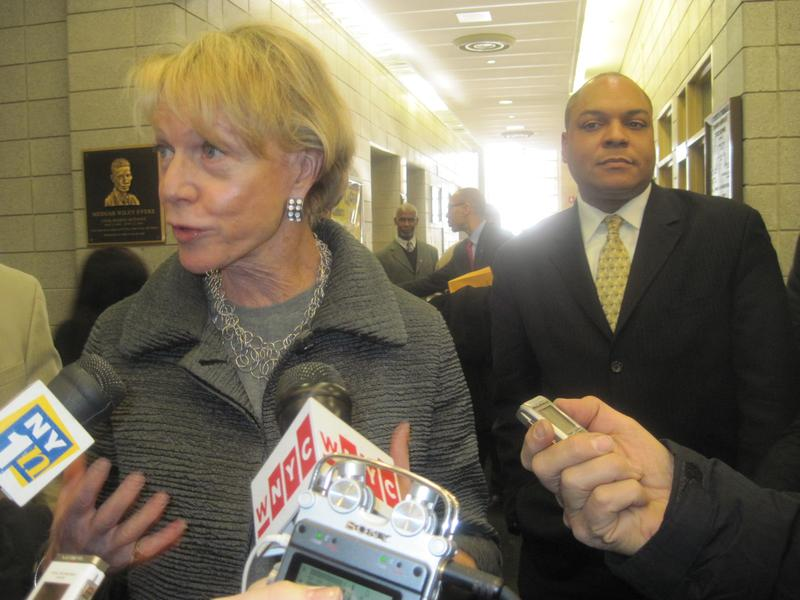 Chancellor Cathie Black, after touring  Medgar Evers Prep in December 2010