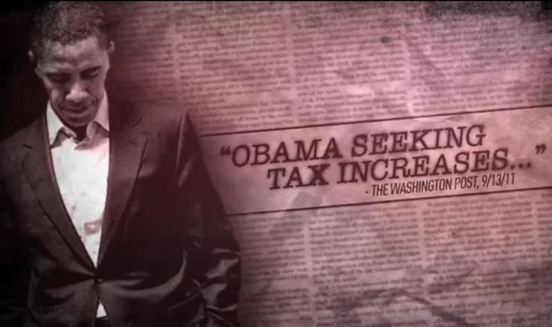 A still from a negative ad produced by Crossroads GPS, a SuperPAC supporting Republican candidates.