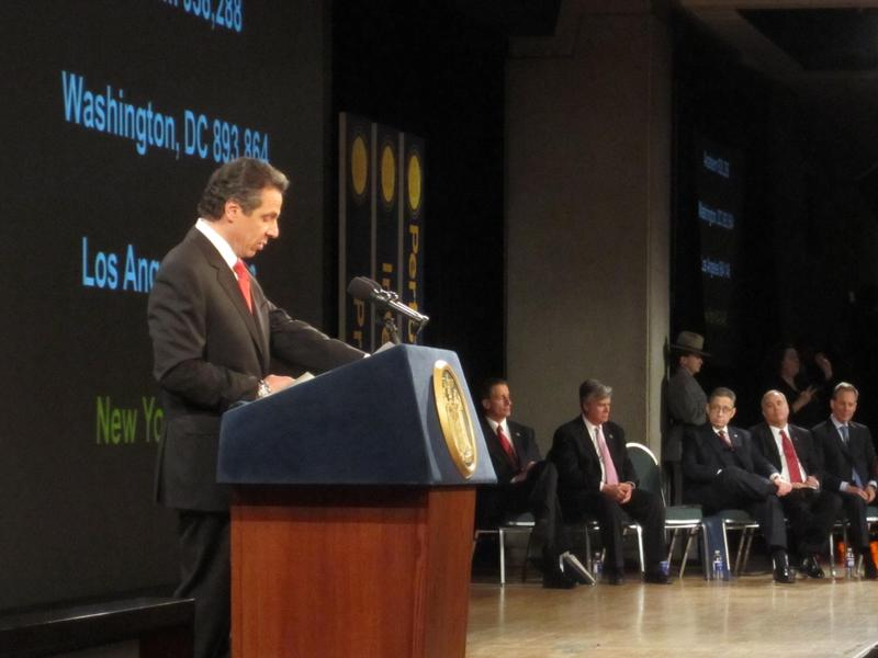 Gov. Andrew Cuomo gives his State of the State address.