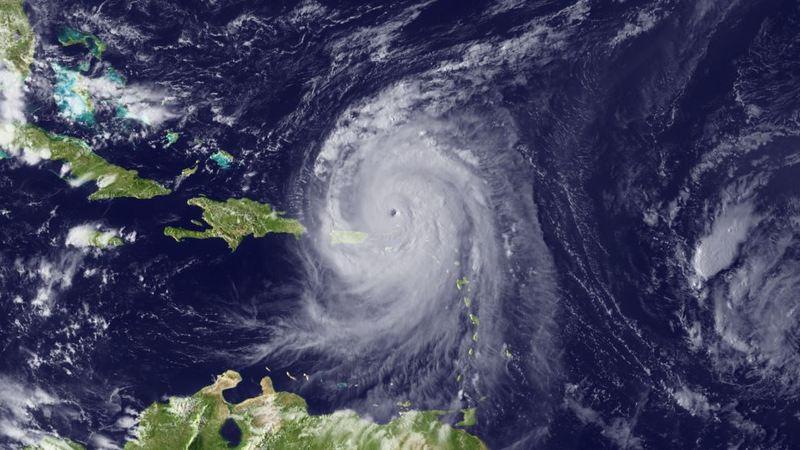Hurricane Earl is seen on August 30, 2010 in the Atlantic Ocean from space.