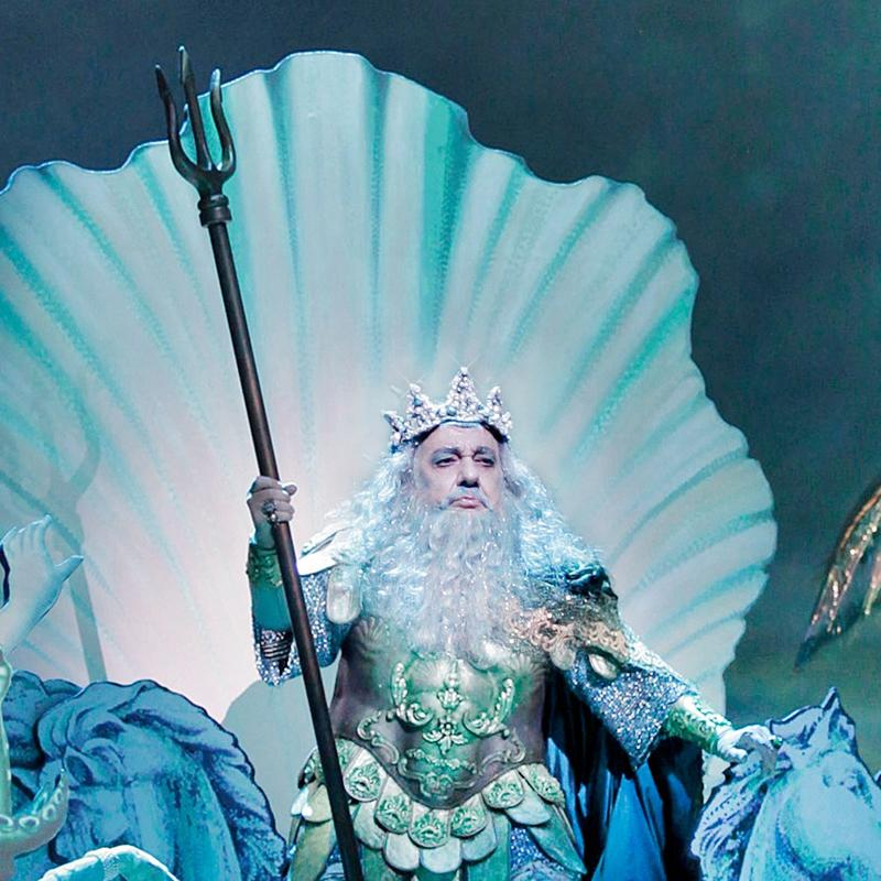 Plácido Domingo as Neptune in 'The Enchanted Island'