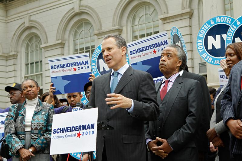 Rev. Al Sharpton endorses State Sen. Eric Schneiderman for NY Attorney General