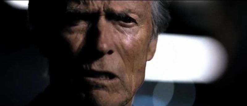 "A still from Chrysler's ""Halftime in America"" ad, starring Clint Eastwood."