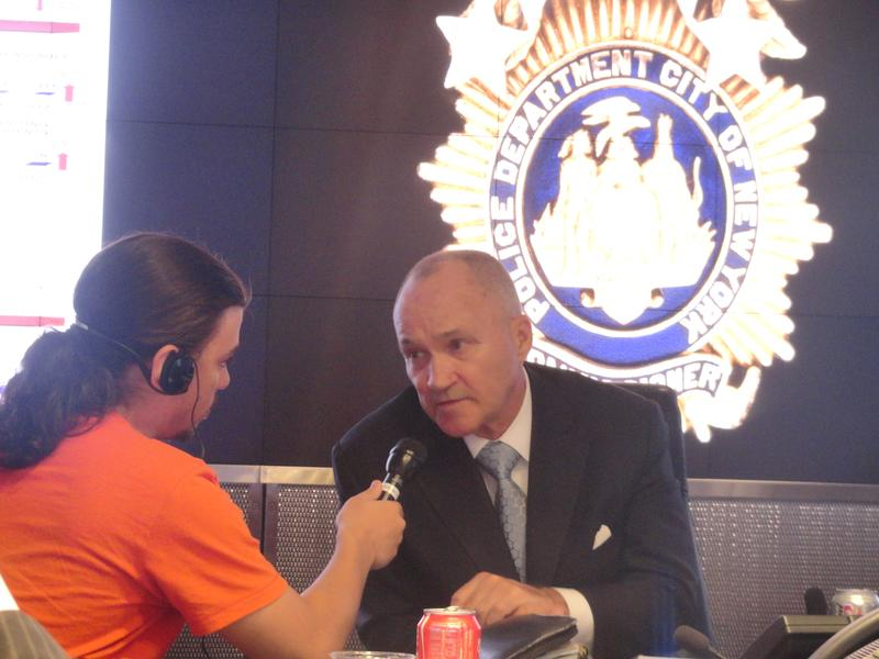 Radio Rookie Ephraim Fromer interviews Police Commissioner Ray Kelly