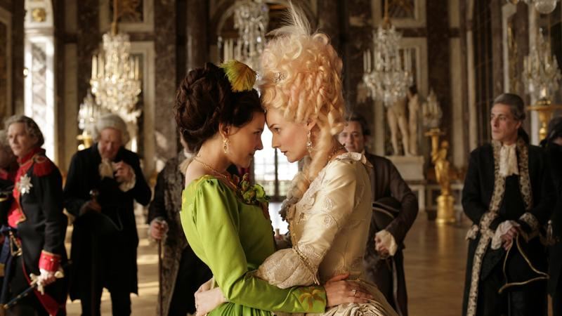"Virginie Ledoyen, left, stars as Gabrielle de Polignac and Diane Kruger, right, stars as Marie Antoinette in Benoit Jacquot's ""Farewell, My Queen,"" a Cohen Media Group release"