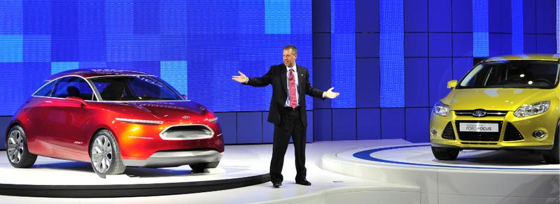 Joe Hinrichs, group vice president and president, Ford Motor Company Asia Pacific and Africa, at the 2010 Beijing Auto Show.
