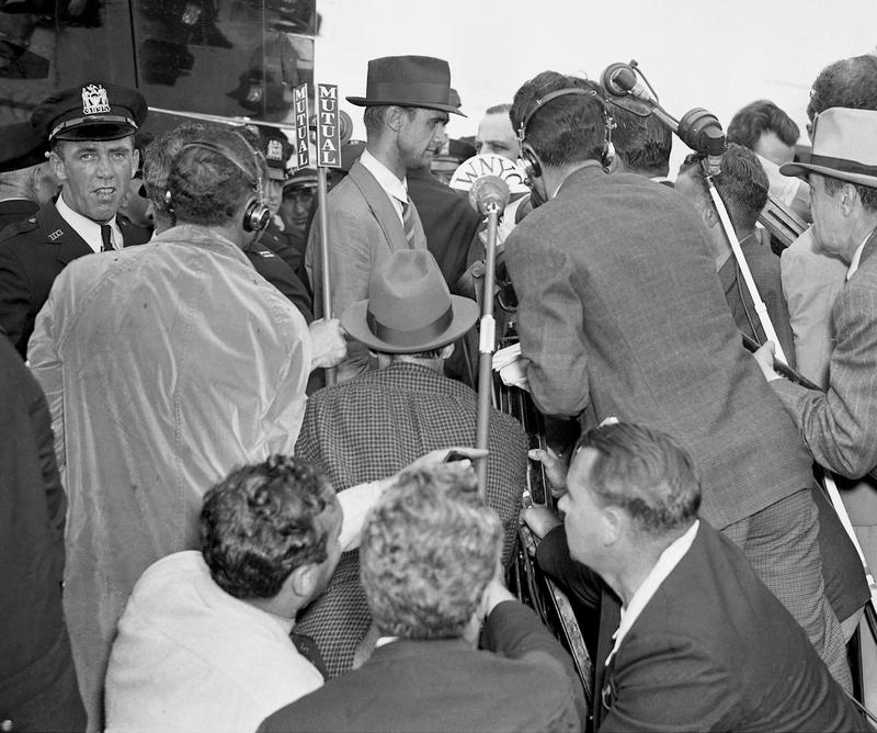 WNYC covers aviator Howard Hughes and crew as they return to  New York after flying around the world July 14, 1938.