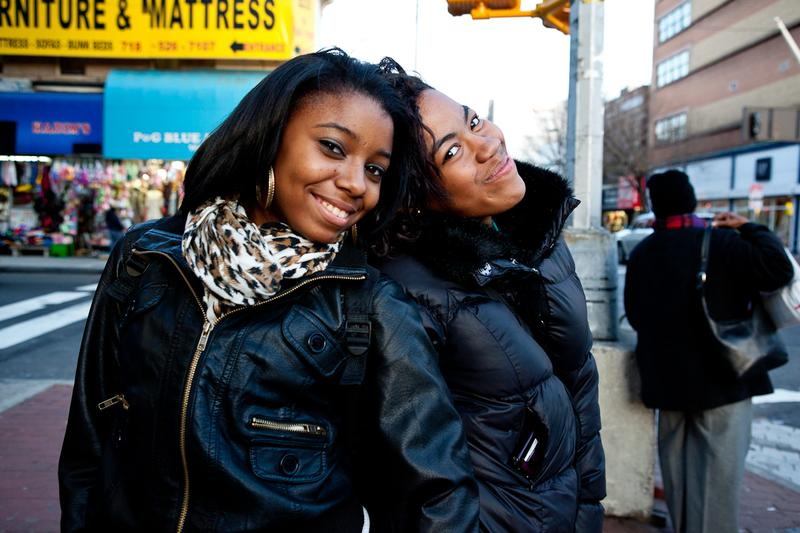 Kayla Mitchell and friend shopping on Jamaica Ave.