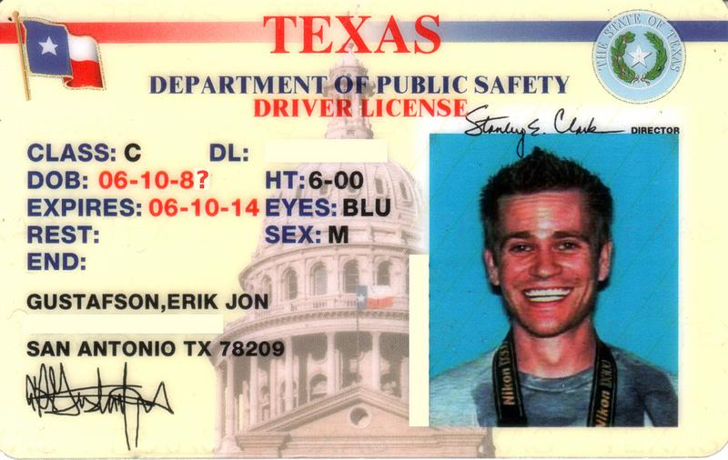 Texas Drivers License.