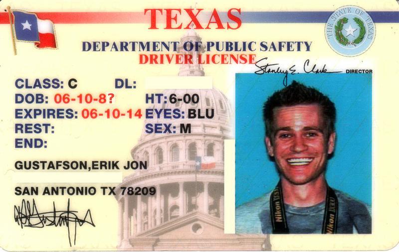 Texas Drivers License Template 2016 Staffmm