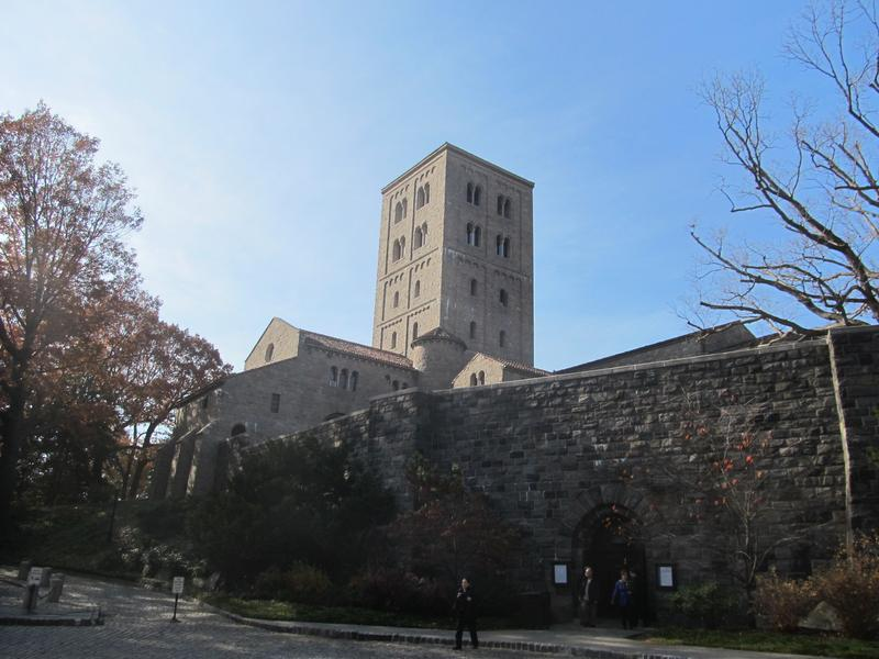 The Cloisters in Fort Tryon Park on a fall day.