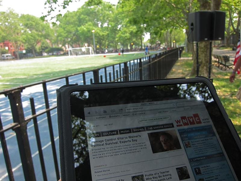 Free wireless internet at East Harlem's Thomas Jefferson Park
